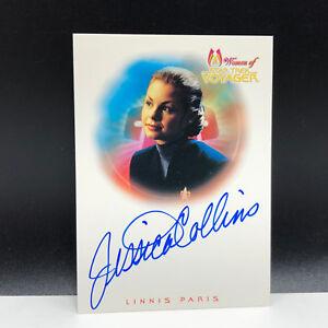 STAR TREK WOMEN OF VOYAGER autograph card Jessica Collins Linnis Paris A8 auto