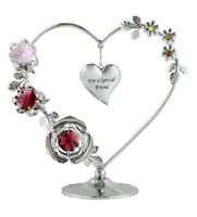 Crystocraft Crystal Love Heart Ornament Figurine Gift For A Special Friend