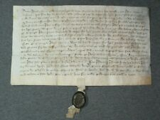 RARE Vellum Medieval Manuscript Indenture w/ Original Wax Seal, Dated 1426