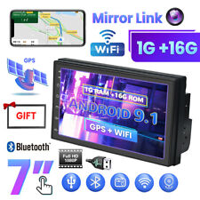 "Android 9.1 7"" 2DIN Autoradio avec GPS navigation BLUETOOTH NAVI DOUBLE  + cadre"