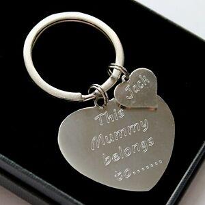 This Mummy Nana belongs To Personalised Engraved Keyring Birthday Gifts FREEPOST