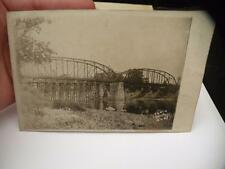 ANTIQUE POSTCARD RPPC PHOTO JERSEY SHORE BRIDGE POSTED 1911