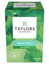 Taylors of Harrogate Kew Green Tea & Sweet Mint - 20 Tea Bags (Wrapped & Tagged)