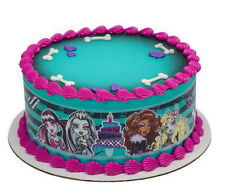 Monster High cake strips image frosting topper decoration icing #36824