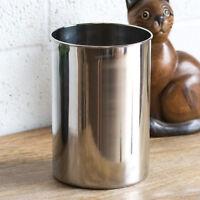 18cm Large Stainless Steel Kitchen Utensil Caddy Holder Jar Cutlery Pot Storage