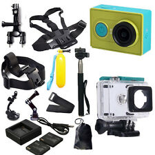 Original XiaoMi Yi Wifi Sports Action Cam+Accessories Kit+Charger+Battery Uksale