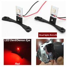 2xRed Devil Demon Eyes LED Strips Module For Projector Lens Head lights Retrofit