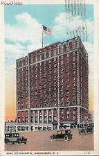 Postcard King Cotton Hotel Greensboro NC 1930