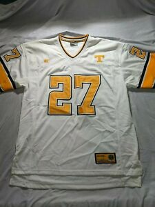 Tennessee Vols White Colosseum Football Jersey Size XL #27 Stitched Number Hefty