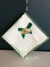 Vintage Fine Irish Linen Handkerchief Embroidered Lace Ireland Gift Box, Unused
