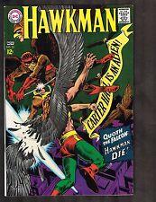 "Hawkman #22 ~ ""Quoth the Falcon: Hawkman Die!"" ~~ 1967 (8.0) WH"