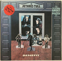 JETHRO TULL BENEFIT LP PINK ISLAND GERMAN PRESS EX CONDITION PRO CLEANED