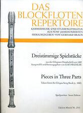 Das Blockflöten Repertoire --Edition Moeck Nr. 2511 -- Dreistimmige Spielstücke
