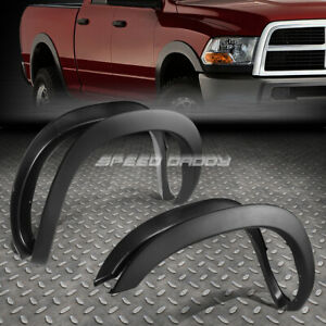FOR 02-09 DODGE RAM PICKUP PAINTABLE MATTE BLACK OE STYLE WHEEL FENDER FLARES