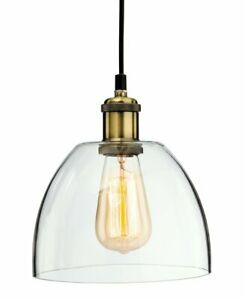 Firstlight Empire Pendant, Antique Brass with Clear Glass