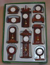 10 Wooden Clocks Set 12th