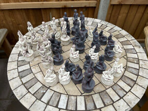 Vintage 1960's Erotic Chess set - Dark Grey and white pieces - Chess pieces only