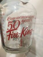 Measuring Cup Commemoorativing 50th Anniversary  2 Cup Fire King Anchor Hocking
