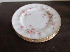 Vintage Paragon Victoriana Rose England Porcelain Set Of 4 Bread & Butter Plate