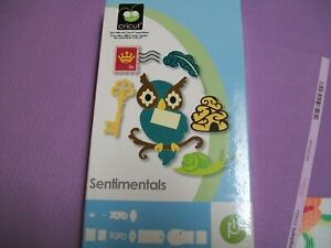 SENTIMENTALS CRICUT SHAPES CARTRIDGE - IN ORIGINAL BOX WITH INSTRUCTION BOOKLET