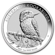2021 Perth Mint Australia KOOKABURRA .9999 Fine Silver 1 oz bu coin in PM Caps.