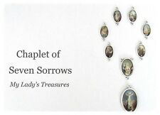 7 Sorrows Dolors Chaplet Set 8 PC Color Italy Rosary Centerpiece Parts