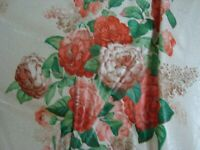 "Near 1 Yd TITELY MARR Chintz FABRIC Balmoral Floral 4 Pillows 54"" x 35"" BTY"