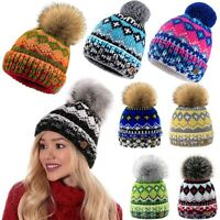 Winter Beanie Hat Women Men Hats Indian Style Knitted Fleece Lining Fashion Ski