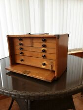 More details for vintage moore and wright toolmaker cabinet, engineering box