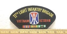 US Army 11th Light Infantry Brigade Vietnam Veteran Embroidered Patch