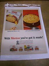Original Morton Frozen Dinner Magazine Ad - You've Got It Made