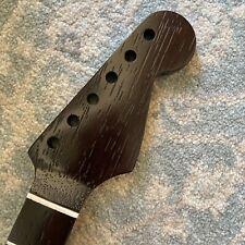 One Piece Wenge wood S-Style Guitar Neck, Bone Nut. 9.5 radius