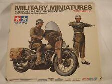 1/35 Tamiya US Military Police 1 Motorcycle Harley Davidson & 2 MP's F/S Bag 184