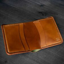 Horween Shell Cordovan leather mens bifold wallet