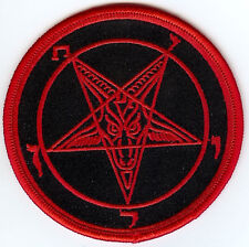 Baphomet Sigil Patch Red Satan Occult Pagan Witch Heavy Metal Goat The Devil 666