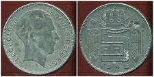 BELGIQUE 5 francs 1945  zinc   ( des belges  )