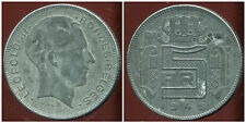 BELGIQUE 5 francs 1945  zinc   ( des belges  )  ( bis )