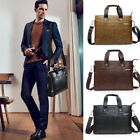 NEW Men Leather Briefcase Laptop Handbag Messenger Business Casual Bags & Purse