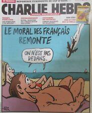 Charlie Hebdo Kein 1154 von Juli 2014 Moral der Français Crash Flugzeug Strand