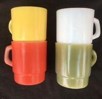 anchor hocking fire king stackable vintage coffee mugs 8 Oz oven safe