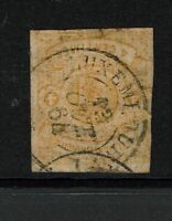 Luxembourg SC# 6, Used, small top and bottom thins - S772