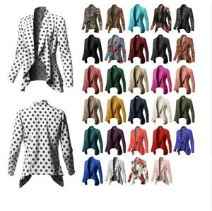 FashionOutfit Women's Formal Office Open Front Long Sleeves Blazer - Made in USA