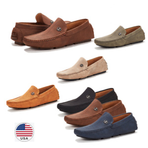 Men's Penny Casual Moc-Toe Slip On Boat Shoe Driving Lightweight Loafers Size US