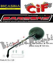 9388 - SPECCHIO SINISTRO O DESTRO EFFETTO CARBONIO CARBONE VESPA 50 SPECIAL R L
