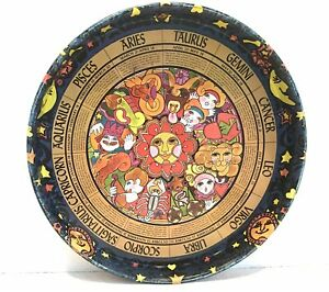 Vintage 1960's Astrology Serving Tray  with all Zodiac Signs Listed