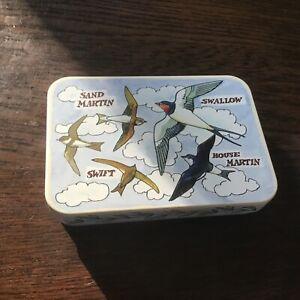 Emma Bridgewater Bird Families Pocket Tins, 11x7.5x2.5cms, Swifts and Swallows