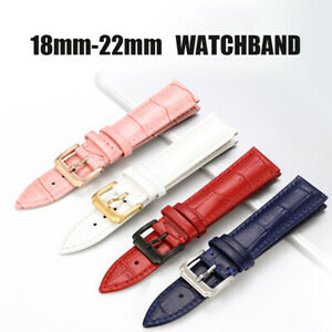 18-22mm Men's Woman's Luxury Casual Formal Leather Wristwatch Straps Bands
