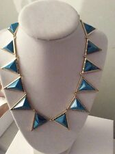 House of Harlow 1960 Turquoise  Triangle Collar Necklace $158. HH-7