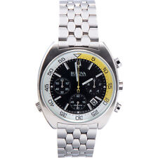 Bulova Men's 'Snorkel' Quartz Stainless Steel Automatic Watch Silver-Tone 96B237