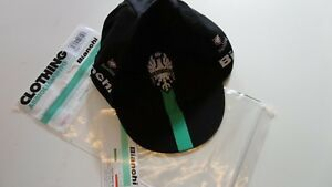 Bianchi Nalini Reparto Corsa Black Race Cycling Cap New In Bag Made In Italy